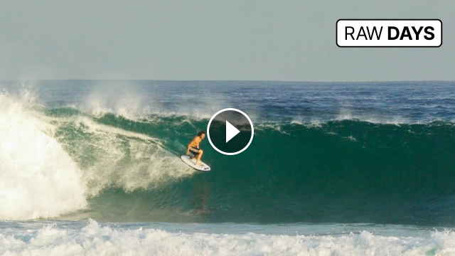 RAW DAYS Desert Point Indonesia 20-second left-hander barrel rides