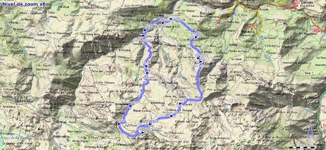 Mapa de la ruta al Jascal por Semuñón