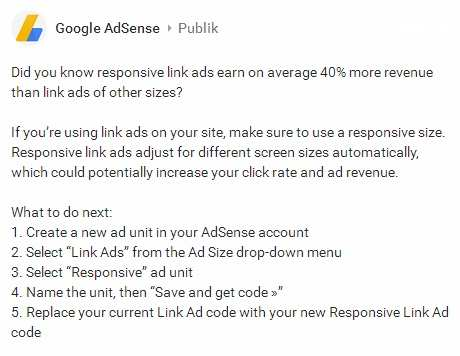 Recomended adsense-responsive-link-ads to your blog adsense