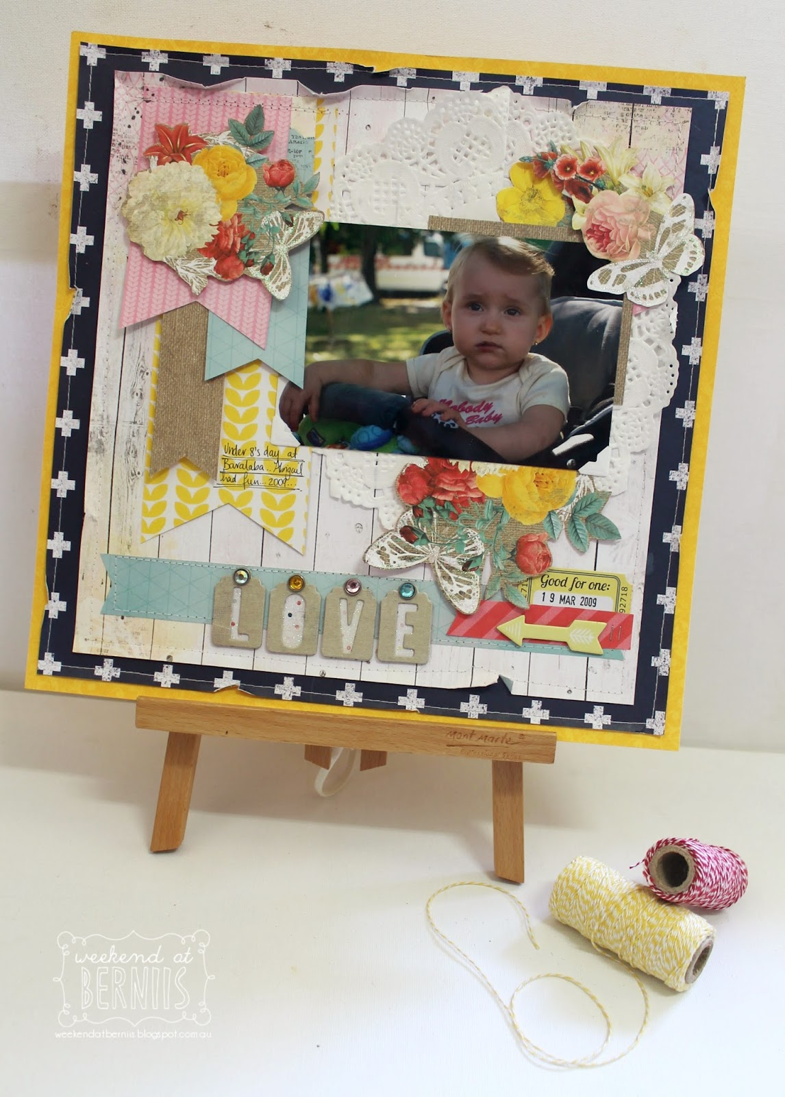 Love layout by Bernii Miller using the Sweet Life collection for BoBunny.