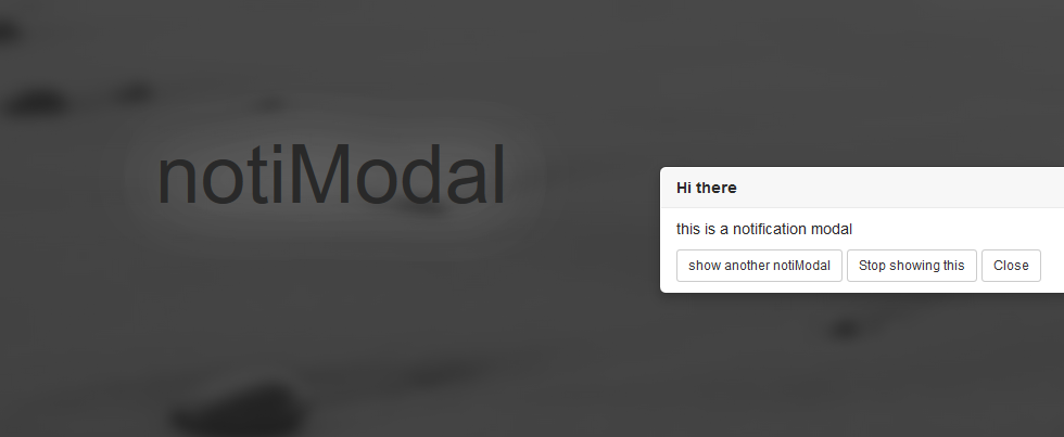 Make Bootstrap Notification Modal jQuery html & css | The