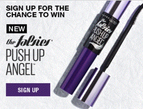 Maybelline The Falsies Push Up Angel Mascara Contest