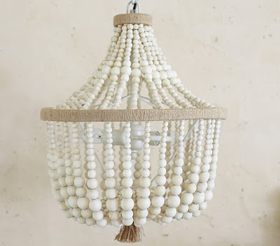 pottery barn beaded chandelier