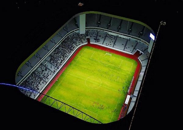 (Video) Megahnya Stadion Batakan saat Uji Coba, Seperti di Liga Inggris