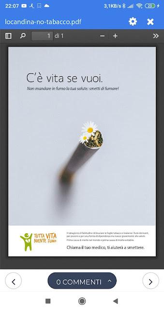 poster stop al fumo