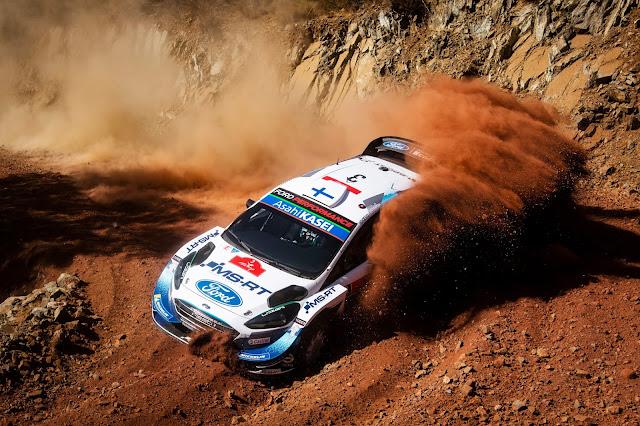 Ford Fiesta WRC car on Rally Turkey