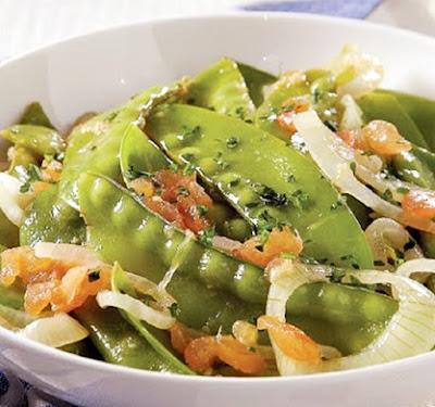 receita salada de ervilha torta com gengibre