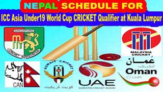 schedule ICC Asia Under19 schedule World Cup Qualifier at Kuala Lumpur