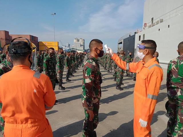 232 Prajurit Terpilih Brigif PR 3 Kostrad  Bertolak Dari Makassar Ikuti Lattuk Raider