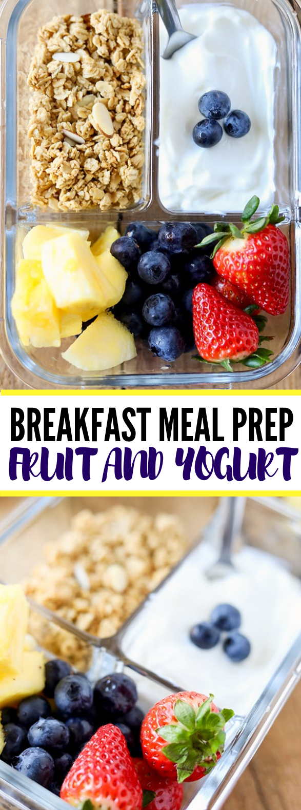 BREAKFAST MEAL PREP FRUIT AND YOGURT BISTRO BOX #healthy #diet