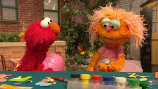 Rocco, Elmo, Zoe, Balloono, Sesame Street Episode 4322 Rocco's Playdate season 43