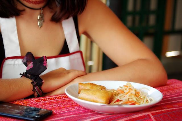 Thai Akha Kitchen Chiang Mai spring rolls