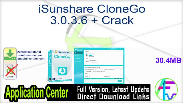 iSunshare CloneGo 3.0.3.6 + Crack