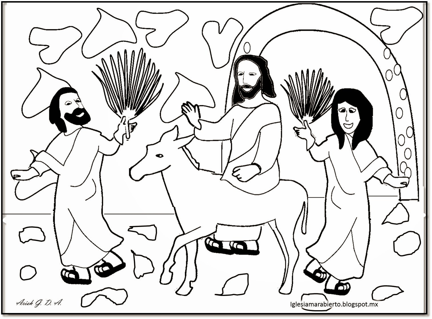 IGLESIA MAR ABIERTO: Estudios bíblicos para niños - Entrada Triunfal -
