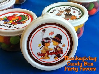 Thanskgiving Candy Box Favors by Kandy Kreations