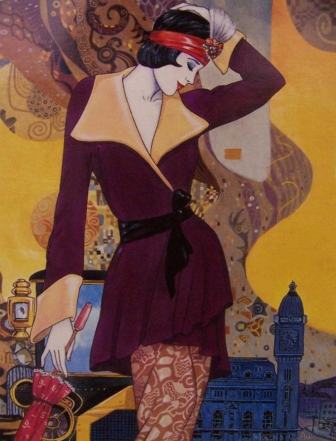 Helen Lam. Картины в стиле ар-деко 6