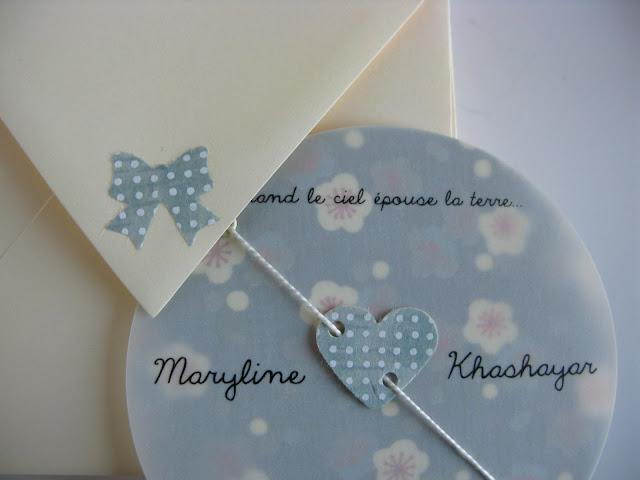 faire-part mariage bohème papier japonais sur mesure raffiné fait main haut de gamme cadeau invité