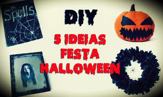 DIY: 5 Ideias para Decoração de Halloween - Festa das Bruxas Gastando Pouco!