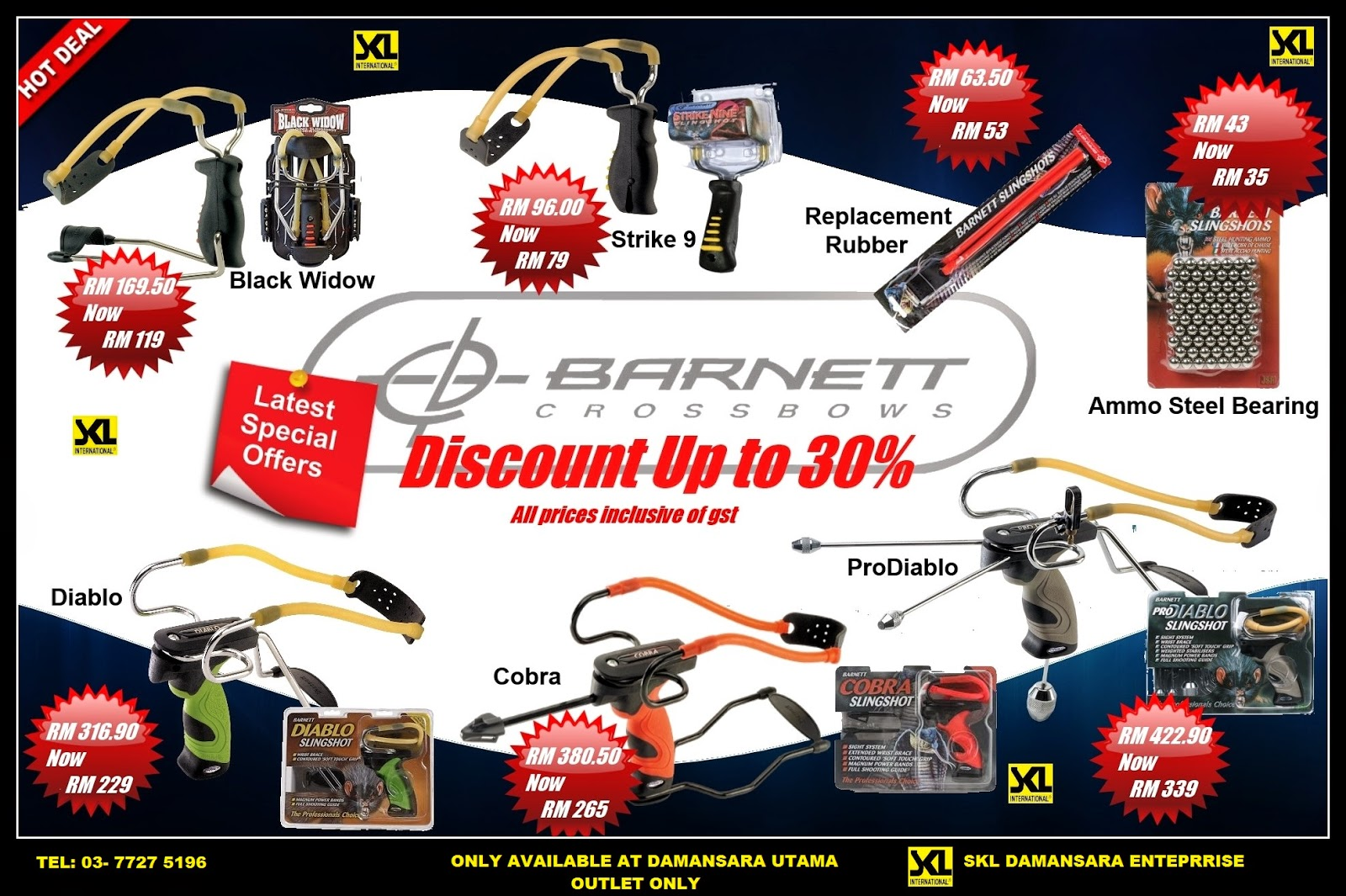 Big Saving!!!Barnett Slingshot & Accessories  now on Promotion!! . Discount Up to 30% .