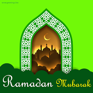 Ramadan mubarak Images islamic arch mosque crescent moon greetings HD
