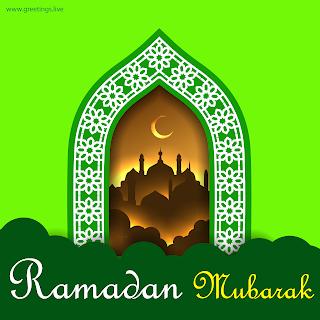 Ramadan mubarak Images islamic arch mosque crescent moon greetings HD