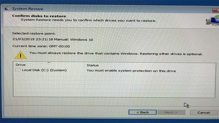 You Must Enable System Protection On This Drive – System Restore Error