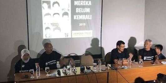 Keluarga dan Korban Penculikan 1998 Nyatakan Dukung Jokowi-Ma'ruf Amin