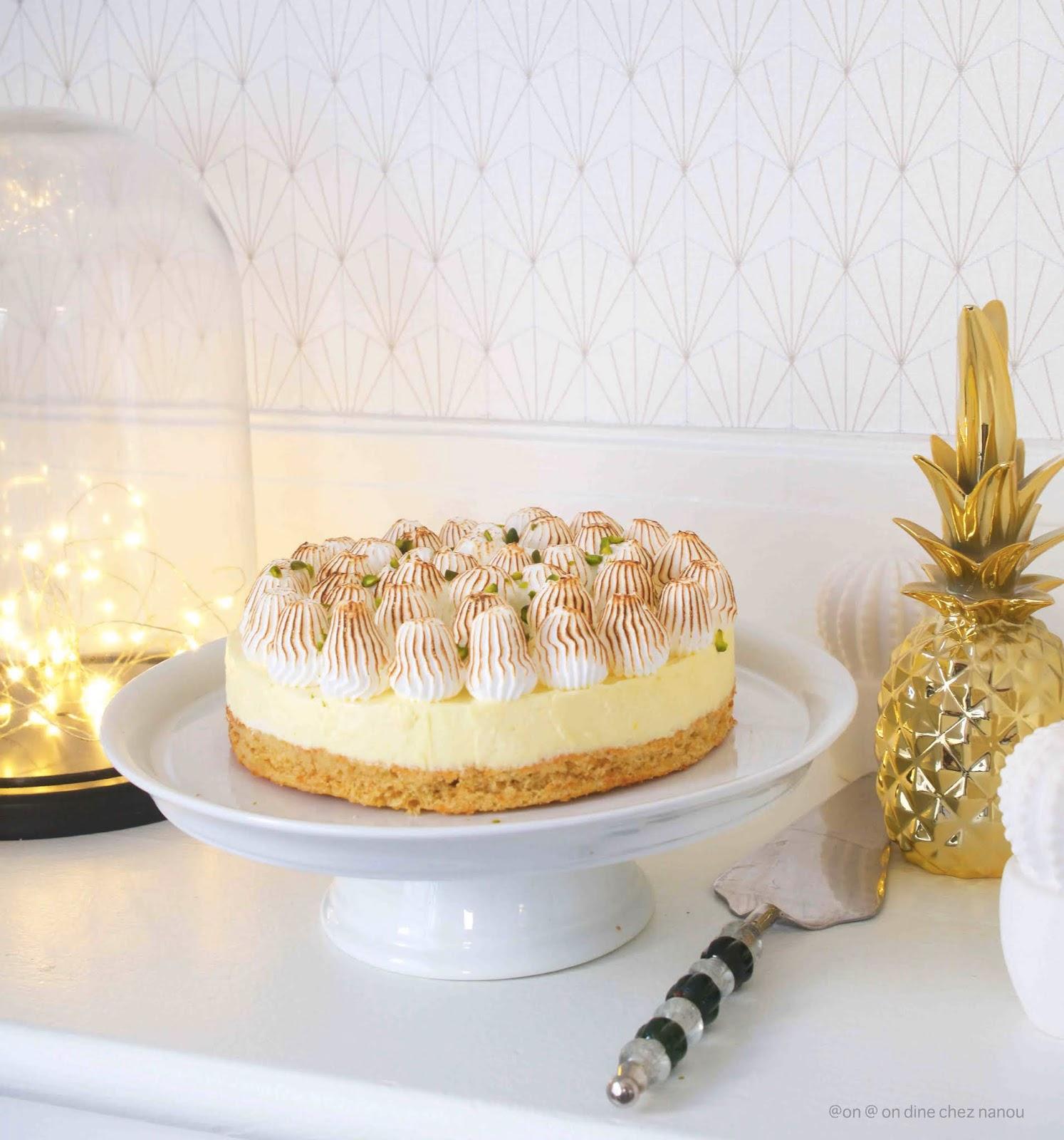 meringue , gâteau moelleux , mousse citron , curd de citron , facile à faire
