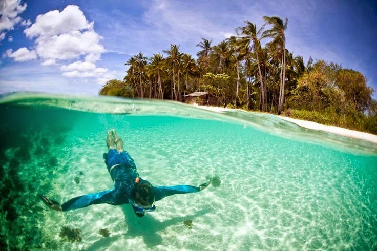 #1. Linapacan Island, Palawan, Philippines is the island in the Calamianes group. It's very difficult to get to, so it doesn't see tourists very often. - 12 Places To Swim With The Clearest, Bluest Waters. #2 Wow!