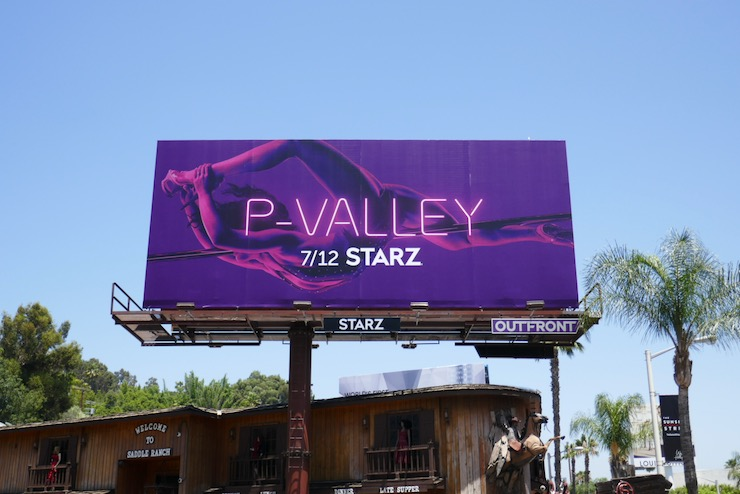 P Valley series launch billboard