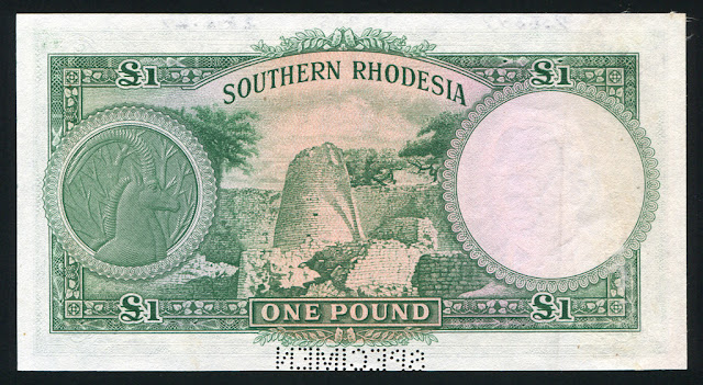 Rhodesian Pound banknotes money images