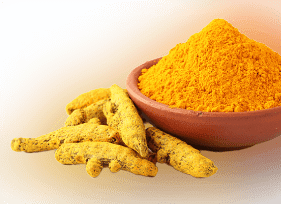 Turmeric The presence of curcumin (Curcumin) is what distinguishes turmeric from different spices and herbs, and it is an important active ingredient in the skin and facial skin, especially according to what many pieces of research and scientific studies have found. Use turmeric: Mix a little turmeric powder with two teaspoons of mint extract. Place it over the area where the black dots appear.  Let it dry for a few minutes, then wash it off with lukewarm water.