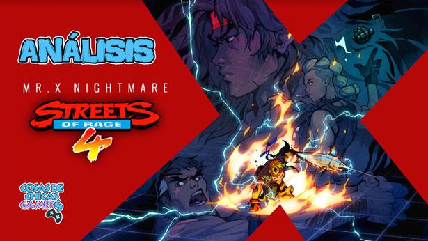 Análisis MrX Nightmare DLC Streets of Rage 4 en PS4
