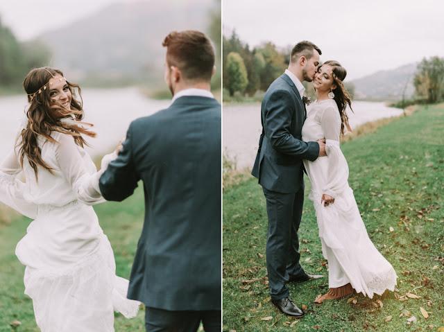 Ślubna mantika w stylu etno.