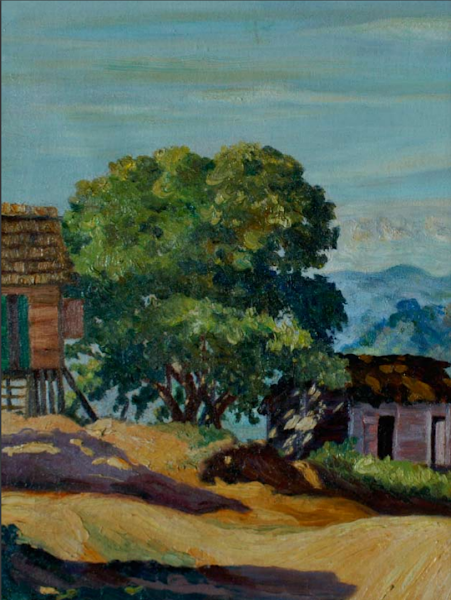 Paisaje 1938, detalle