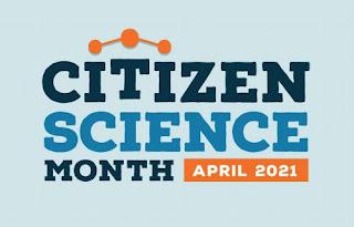 Logo for Citizen Science Month April 2021
