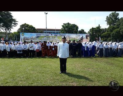 HUT Ke-68 Kabupaten Subang, 5 April 2016. Pemimpin upacara Kadishub Subang Harlan