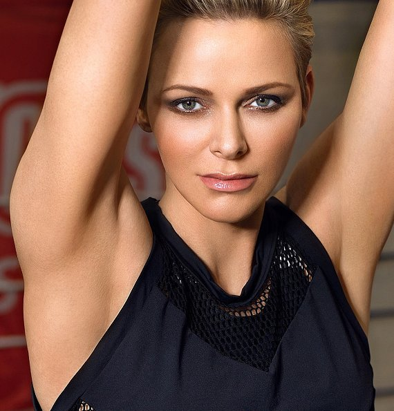 Princess Charlene of Monaco, fitness, swiming, exercise at fitness center, Very sporty. Style of Princess Charlene.