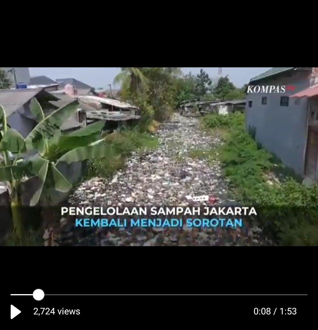 KompasTV Serang Anies, Eh Videonya Sampah Kali di Bekasi