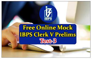 Free Online Mock Test for IBPS Clerk 2015 Prelims Exam- Test-3
