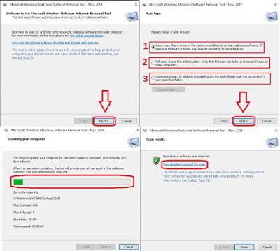 أداة من Microsoft لإزالة البرمجيات الخبيثة على أى نظام ويندوز