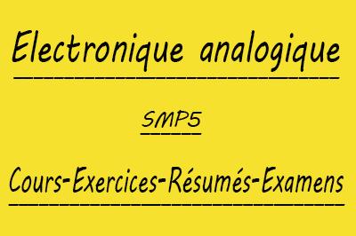 Electronique Analogique Smp5 Cours Td Et Exercices