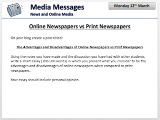 h media studies online newspaper vs print newspaper essay online newspaper vs print newspaper essay