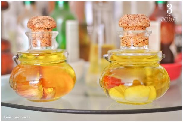 como fazer azeite aromatizado com alho