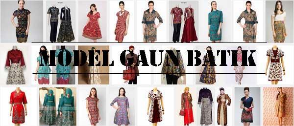 Model Gaun Batik Modern Terbaru