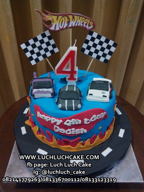 Kue Tart Fondant Hot Wheels