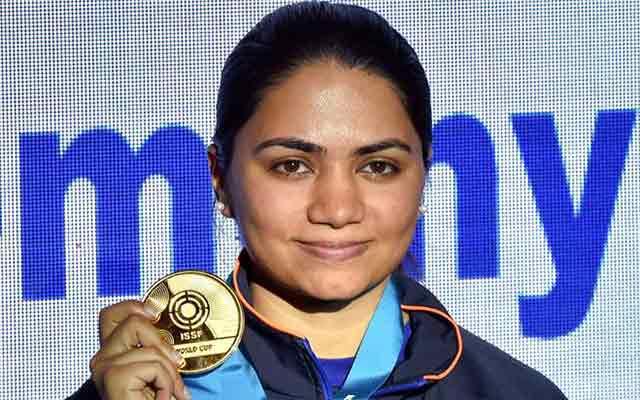 शूटिंग वर्ल्ड कप में भारत की अपूर्वी ने 10मी. एयर राइफल में जीता स्वर्ण पदक