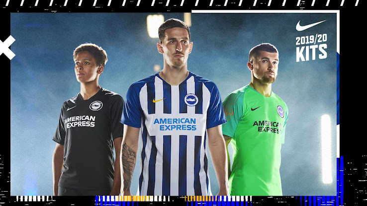 bbef635381 The new Brighton 19-20 kits will be again made by Nike. Currently available  for pre-order, they will ship from late June.
