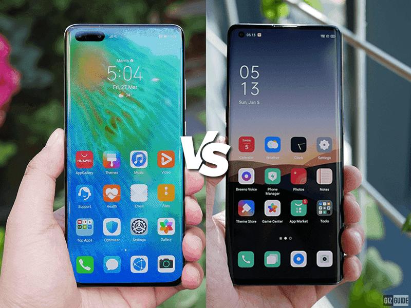 Huawei P40 Pro vs OPPO Find X2 Pro Specs Comparison