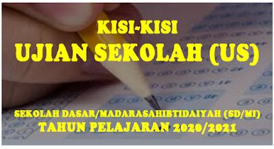 Kisi-Kisi Ujian Sekolah SD/MI Tahun 2021